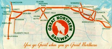GN History - 1889 us railroad map